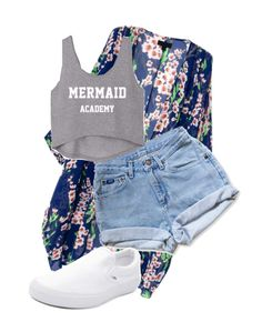 """Mermaid"" by pyatt184 ❤ liked on Polyvore featuring Levi's and Vans"