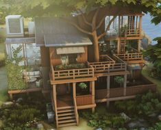 Sims 4 House Plans, Sims 4 House Building, Sims 4 House Design, Casas The Sims 4, Sims 4 Build, Sims Ideas, Minecraft, Sims 4 Houses, Facades