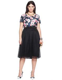 Square Neckline Printed Top | Women's Plus Size Tops | ELOQUII