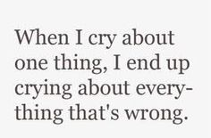 Tired of crying