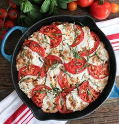 Save this dinner casserole recipe to make a Caprese Quinoa Bake.