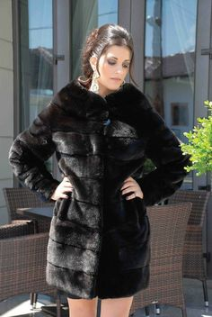 Blackglama Mink Fur Hooded Jacket | Fur Fashion | Pinterest | Fur