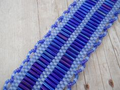 """I've Got the Blues"" hand woven bracelet"