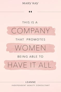 Start a new opportunity and embrace living a full and fulfilling life.   Mary Kay
