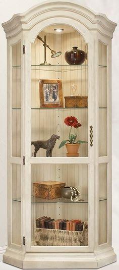 Philip Reinisch Color Time Panorama - Modern Corner Curio Display Cabinet in Hardwood