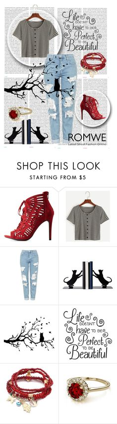 """""""romwe"""" by erna-pozderovic ❤ liked on Polyvore featuring Oris, Charlotte Russe, Topshop and Chicnova Fashion"""