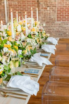 Colorful spring wedding theme inspiration | ElegantWedding.ca Wedding Theme Inspiration, Table Setting Inspiration, Head Tables, Wedding Place Settings, Wedding Receptions, Spring Wedding, Wedding Centerpieces, Colorful, Rustic