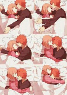 Kawaii Haruka e ittoki ( irá no Prince Sama) 😍 Animé Romance, Manga Romance, Anime Couples Drawings, Anime Couples Manga, Manga Anime, Anime Art, Anime Couples Cuddling, Anime Couples Sleeping, Anime Couples Hugging