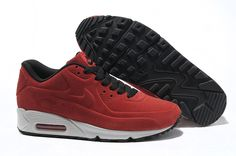 Wine Red Black Nike Air Max 90 VT Fur Men\u0026#39;s Shoes #Red #Womens #
