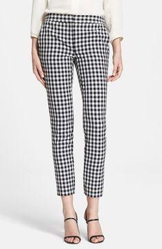 Diane von Furstenberg 'Genesis' Gingham Pants available at #Nordstrom