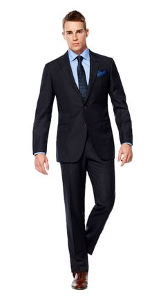 Navy Light Blue Pinstripe  http://www.blacklapel.com/suits/navy-light-blue-pinstripe.html?utm_campaign=3-31-2015-suits-content&utm_medium=social&utm_source=pinterest&utm_content=3-31-2015-navy-light-blue-pinstripe&utm_term=