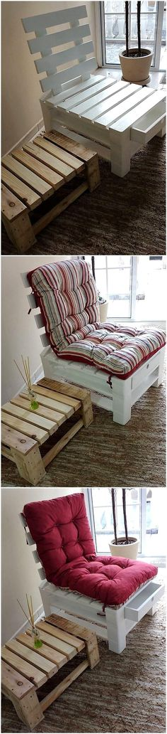 Have you ever imagined to modify your house, with such a fabulous pallet craft? if not, then here we are offering an elegant pallet craft in the form of thisrecycled pallet chair with storage drawer. This multipurpose craft will meet your seating and storage requirements with one pallet creation.