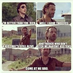 What we were all thinking during the exchange between Rick and the Governor, The Walking Dead