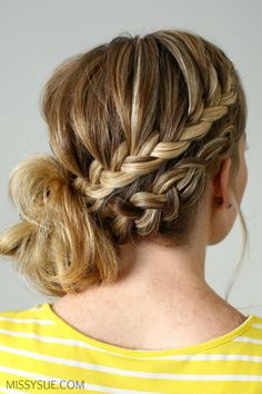 how to make style hair 1000 ideas about braided side buns on side 4671 | 4671af257b106464ced54b6d78103a6e