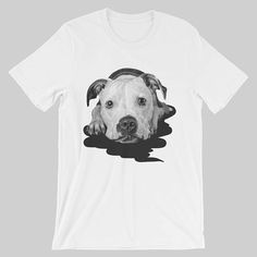 Dog unisex t-shirt, cute tshirt, blue, red, gray, pink, orange, yellow, gift for her, him, puppy, adorable, black and white print