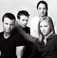 Joey Lawerence, Will Estes, Vanessa Lengies, & Brittany Snow from Season 1 of American Dreams. They all look so young! I miss that show Vanessa Lengies, American Dreams, Brittany Snow, Old Tv Shows, Season 1, Childhood Memories, Joseph, Appreciation, Tube