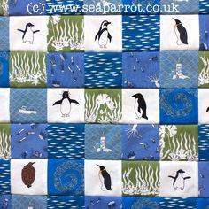 Penguin patchwork made with Sea Parrot fabrics. Penguin Art, Patchwork Fabric, Penguins, Parrot, Fabric Design, Fabrics, Sea, Inspired, Nature