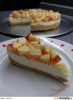 Jablečný nepečený koláč Easy No Bake Desserts, Sweet Cakes, Sweet Recipes, Ham, Cheesecake, Food And Drink, Treats, Apple, Homemade