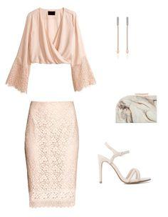 Look para invitada a bodas de 2015 con falda de encaje y blusa