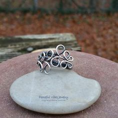 Sterling Silver Spiral Ring Handcrafted Artisan Jewelry Size