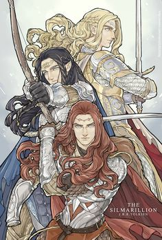 Finrod, Fingon and Maedhros<<<My three favorite elves being epic in one picture...whatever shall I do?