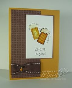 Stampin' Up! Cheer to You. Good Masculine card.
