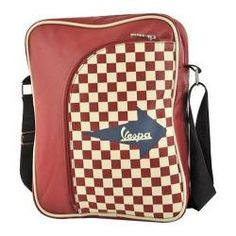 Vespa Big Pocket Shoulder Bag Red | Overstock.com Shopping - Great Deals on Vespa Shoulder Bags