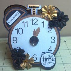 new years  TCC 2013 Goal Calendar Clock Front View