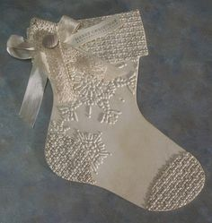 Vintage Style Christmas Stocking Shaped Gift by WhimsyArtCards, $5.00