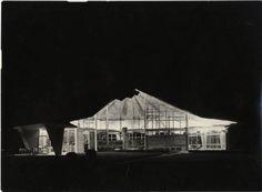 X Triennale - Parco Sempione - Padiglione per soggiorno - Lavori di costruzione