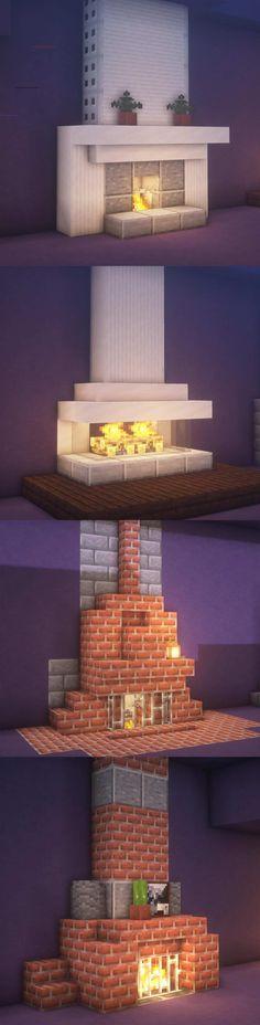 Fireplace In Minecraft . Fireplace In Minecraft . Minecraft Mods, Chalet Minecraft, Minecraft Villa, Architecture Minecraft, Minecraft House Plans, Minecraft Cottage, Minecraft Interior Design, Easy Minecraft Houses, Minecraft House Tutorials