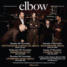 Elbow Nov/Dec 12 Tour artwork. We love these guys.