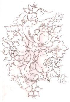 Riscos - Bauernmalerei - Margarida Verissimo - Álbuns da web do Picasa...A COLLECTION OF DESIGNS...35 pages!!