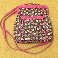 Vera Bradley Frill Crossbody in Boysenberry ❗️This listing has been updated and is now only for the crossbody bag. The wallet has been sold❗️Vera Bradley Crossbody in Frill patent coating Boysenberry Pattern! The Crossbody has been used a couple of times, but still in excellent, like new condition. Strap on the crossbody comes off and can be used as a clutch.🚫TRADES Vera Bradley Bags Crossbody Bags