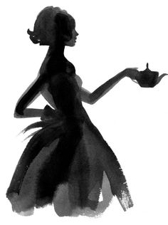 So cool! Need to try out this style of drawing myself - Little Black Dress Illustration #LBD