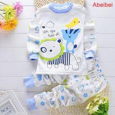 Newborn Baby Clothing Sets for kids pajamas Clothes Cotton long sleeve base shirt Undershirts pyjamas bears Baby Outfits Newborn, Baby Boy Outfits, Kids Outfits, Baby Clothes Brands, Cute Baby Clothes, Toddler Pajamas, Baby Pyjamas, Toddler Sleep, Baby Sleep