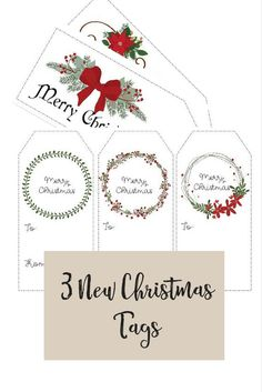 Instant Download - Christmas Gift tags , new designs for this year
