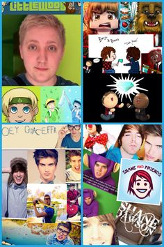 COLLAGNESS OF ALL MY FAVORITE YOUTUBERS!!!!!! TOO MUCH!!! >o< part 2/2 InTheLittleWood, BajanCandian, ASFJerome, JoeyGraceffa, and Shane Dawson.