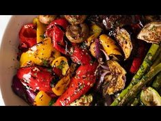 Marinated BBQ Vegetables BBQ Vegetables like you've never had before. grilled vegetables tossed in a Lemon Herb & Garlic Marinade, tastes like homemade antipasto vegetables! Marinated Grilled Vegetables, Bbq Vegetables, Grilled Vegetable Salads, Root Veggies, Veggie Food, Roasted Vegetables, Grilling Recipes, Vegetable Recipes, Cooking Recipes