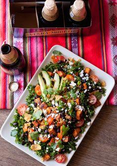 Vegetarian Kale Taco Salad Recipe (via @betsylife) #POPSUGARSelect