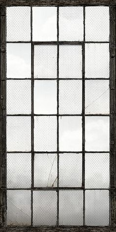 Warehouse Windows Mural Charcoal Industrial Texture