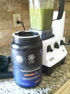 protein green smoothie – serves two  3-4 cups water 6 stalks swiss chard 1 in fresh peeled ginger juice of 1 lemon 2 scoops protein powder (...