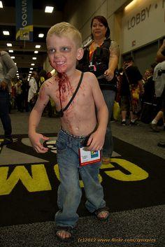 Zombie kid cosplay by LynxPics, SDCC 2012, via Flickr