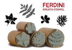 Blätter+·+4+Stempel+von+FERDINI+auf+DaWanda.com