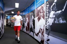 Behind the scenes with Stan Wawrinka - AO 2014 men's singles winner Stan Wawrinka walks down the hall of champions. (Photo by: Fiona Hamilton/Tennis Australia) Tennis Australia, Stan Wawrinka, Challenge Cup, Tennis Tournaments, French Open, Australian Open, Rafael Nadal, Roger Federer, Wimbledon