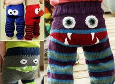 These Monster Bum Knitted Pants look fabulous and you will love to make them.  Get the FREE Pattern now.