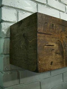 How to make a rough hewn wood fireplace mantel Going to try for above the TV .. just need to make sure it's secure haha