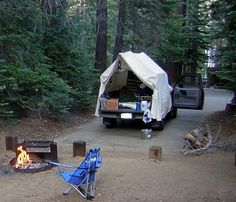 How to Turn a Simple Camp into a Fun and Exciting Day Truck Camping, Tent Camping, Outdoor Camping, Camping Stuff, Camping Outdoors, Huntington Lake, Truck Bed Tent, Live Free, Cool Pets