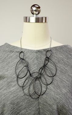Melissa necklace // handmade steel statement necklace by megan auman