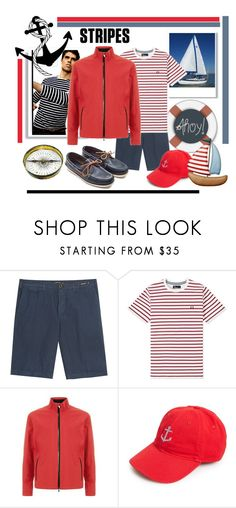 """Sam the sailor"" by kleinwillwin ❤ liked on Polyvore featuring PT01 Pantaloni Torino, Fred Perry, Z Zegna, Smathers & Branson, men's fashion and menswear"